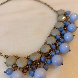 Francesca's blue statement necklace